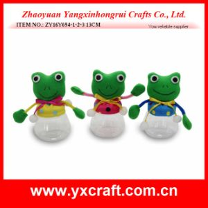 Easter Decoration (ZY16Y694-1-2-3) Easter Frog Decoration Candy Jar pictures & photos