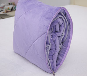Factory Direct Sale Super Soft Embossing Plush Cushion Blanket