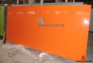 Pure Orange Manmade Quartz Slab for Countertop, Vanity Top, Tile pictures & photos