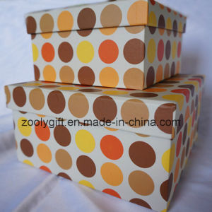 DOT Printing Paper Gift Storage Box Set pictures & photos