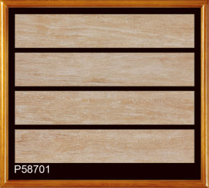 Natural Porcelain Floor Tiles with Wood Grain Design pictures & photos
