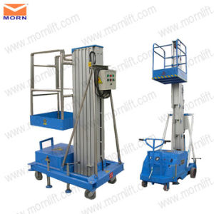 Single Mast Hydraulic Mobile Lift Tables for One Man pictures & photos