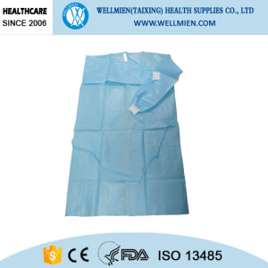 Disposable Nonwoven Isolation Gown with Elastic and Knit Cuff pictures & photos