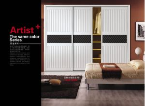PVC Shutter Series Sliding Door for Modern Wardrobe (yg-005) pictures & photos