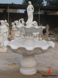 Chinese White Marble Water Fountain with a Lady Statue pictures & photos