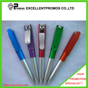 Promotional Cheap Plastic Pen with Nail Clipper (EP-P141024) pictures & photos