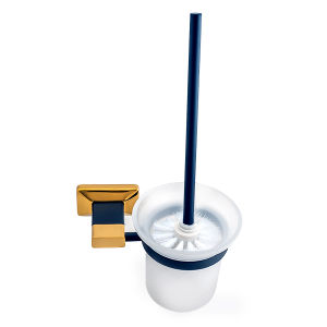Wall-Mounted Toilet Brush Holder in Plated Gold and Painted pictures & photos