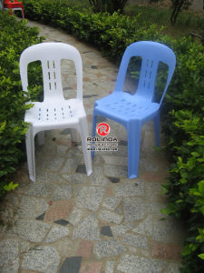 Outdoor Armless Plastic Stacking Chair in Different Colors pictures & photos