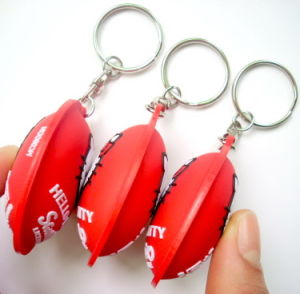 Hot and High Quality PVC Key Ring pictures & photos