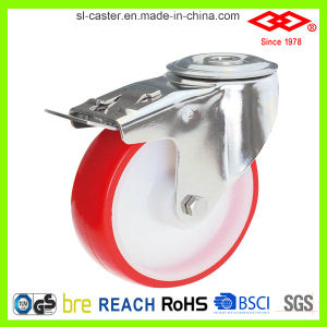 Stainless Steel Polyurethane Castors with Nylon Center (G104-26D080X30) pictures & photos