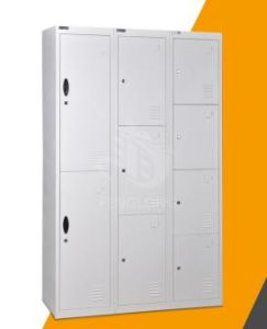 Metal 9 Doors Wardrobe Cloths Cabinet