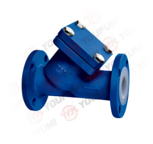PFA Lined Y-Type Strainer Flange Type pictures & photos