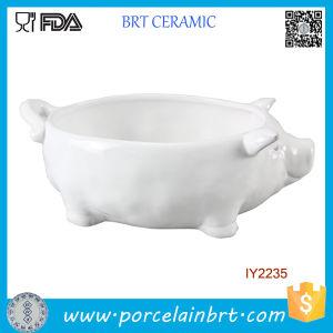 Wholesale White Ceramic Pig Shape Bowl pictures & photos