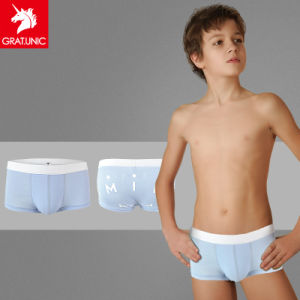 China Boy′s Single Color Soft Pur E Cotton Boxer Briefs, Underwear ...