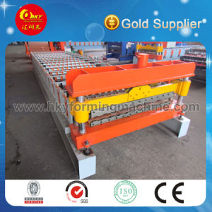 Automatic PLC Control Roofing Sheet Tile Making Roll Forming Machine pictures & photos