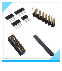 Custom SMT 2.54mm Dual Row Female Header pictures & photos