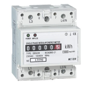 Single Phase 2 Wire RS485 Energy DIN Rail Meter pictures & photos