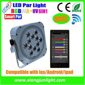 12PCS Mobile Control Wireless Rehargeable LED PAR Light pictures & photos