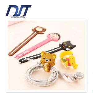 Lovely Cartoon Sawtooth Headphone USB Cable Tie pictures & photos