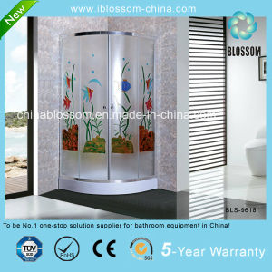 Colorful Tempered Acid Glass Round Shower Enclosure (BLS-9618) pictures & photos