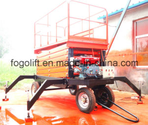 Self-Propelled Diesel Engine Scissor Lift pictures & photos