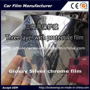 Glossy Chrome Film Car Wrap Vinyl pictures & photos