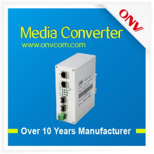 Long Distance Industrial Gigabit Media Converter in Multimode Dual Fiber