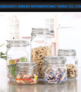 Glass Deli Airtight Clip Top Vintage Preserving Storage Jar pictures & photos