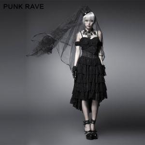 Black Beautiful and Elegant Gothic Evening Dresses (Q-203) pictures & photos