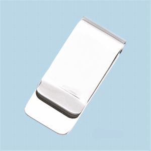 Cheap Promotional Printing Logo Stainess Steel Metal Money Clips pictures & photos