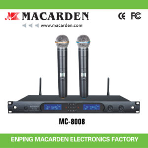 Professional UHF Wireless Microphone System (MC-8008)