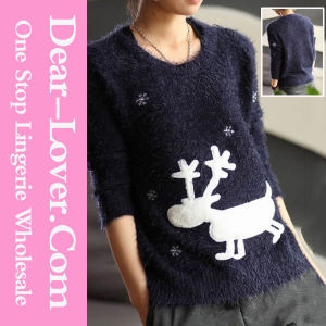 Round Neck Wool Women Pullover pictures & photos