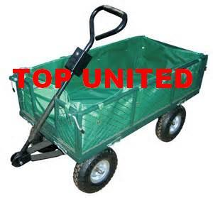 Heavy Duty Manual Steel Metal Garden Cart With Cover Tc1840c
