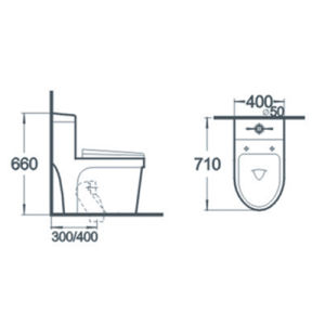 Bathroom Water Closet Siphonic One Piece Ceramic Toilet pictures & photos