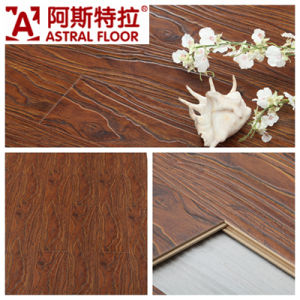 Jiangsu Changzhou Registered Embossed Surface (V-groove&U-groove) Laminate Flooring (AT004) pictures & photos