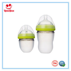 Food Grade Newborn Silicone Milk Bottle 120ml/220ml pictures & photos