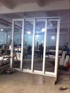 Double Glass Aluminum Stacking Sliding Door pictures & photos