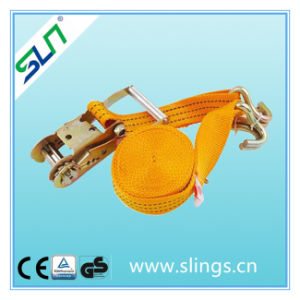 800kg 25mm Wide, Ratchet Strap with Claw Hook Ends - 4 or 6 Metre Length Options Sln Ce GS pictures & photos