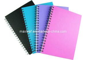 Classical Cover Spiral Notebook with PP Cover Top Quality Notebook Supplier