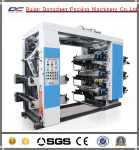 6 Color Stack Printing Machine for Non Woven Roll (NX-61400)