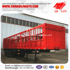 Good Quality 4 Layers Painting Tare Weight 7 Tons Fence Semi Trailer pictures & photos