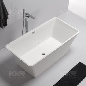 2017 New Ellipse Design White Stone Free Standing Tub pictures & photos