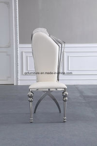 Deluxe Hotel High Back Stainless Steel Dining Chair with PU Seat pictures & photos