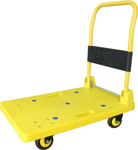 200kg Red Platform Trolley Noiseless Folding Hand Cart pictures & photos