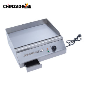 Cooking Equipment Half Flat Half Groove Electric Griddle (DPL-550A) pictures & photos