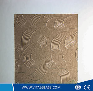 3-6mm Bronze Mayflower Pattern Glass with CE&ISO9001 pictures & photos