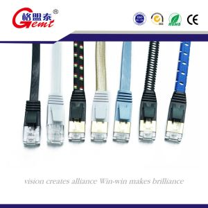 Ultra Flat Cat7 Cable Gemt Brand Chinese Supplier pictures & photos