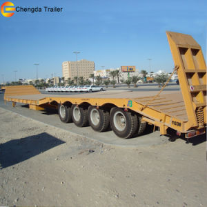 4 Axles Heavy Duty 60ton 80ton Low Bed Semi Trailer pictures & photos