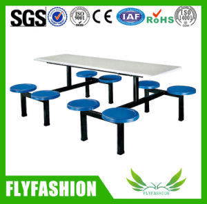 Wooden Simple Design Canteen Tables with Chairs (DT-10) pictures & photos