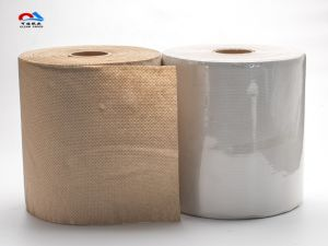 Embossing 1/2ply Hand Roll Paper Towels pictures & photos